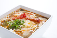 Noodle in hot and sour eastern Thai style  soup Stock Images