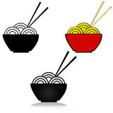 Noodle icon Stock Photography