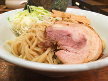 Noodle japanese. With Pork grill Stock Photography