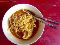 noodle khao τροφίμων soi Ταϊλανδός Στοκ εικόνες με δικαίωμα ελεύθερης χρήσης