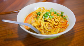Noodle Khao soi , Thai food Royalty Free Stock Image