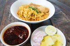 Noodle Khao soi Stock Photo