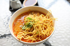 Noodle Khao soi , Thai food Stock Photo