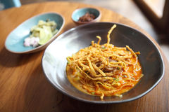 Noodle Khao soi , Thai food Stock Image
