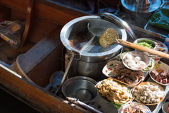 Noodle kitchen on boat Royalty Free Stock Photography