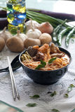 Noodle Laksa κάρρυ Στοκ φωτογραφία με δικαίωμα ελεύθερης χρήσης