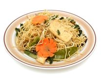 Noodle meal with tofu Royalty Free Stock Photo