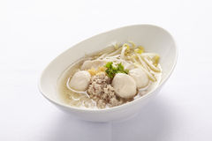 Noodle with meat ball Stock Photo