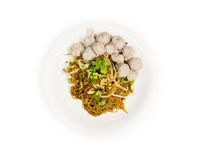 Noodle and meatballs Royalty Free Stock Photos