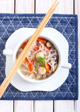 Noodle and mushroom soup Stock Photo
