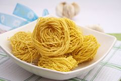 Noodle nests Royalty Free Stock Photo