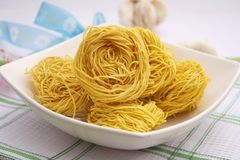 Noodle nests Stock Photo