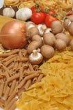 noodle and organic chestnut mushroom Stock Image