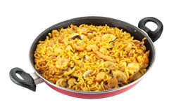 Noodle paella Stock Image