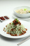 Noodle. A plate of noodle with dumpling Royalty Free Stock Images