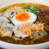 Noodle with pork and egg boiled Stock Image