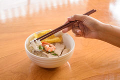 Noodle with pork and shrimp Royalty Free Stock Images