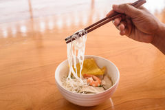 Noodle with pork and shrimp Royalty Free Stock Photo