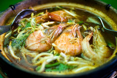 Noodle Prawn Soup Royalty Free Stock Photo