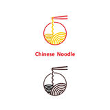 Noodle restaurant and food logo vector design.Chinese noodle log Stock Photos