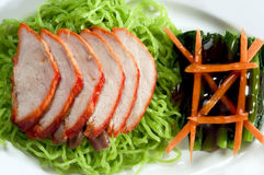 Noodle roasted duck chiness cuisine Royalty Free Stock Photography