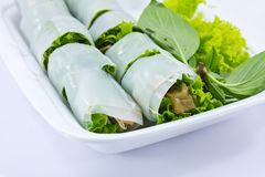 Noodle roll Stock Photography