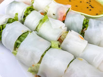 Noodle roll Royalty Free Stock Images