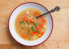Noodle s with vegetable soup Royalty Free Stock Image