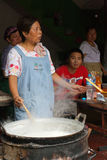 Noodle seller Stock Images