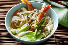 Noodle shellfish soup Royalty Free Stock Images
