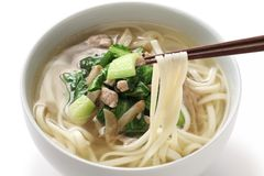 Zha cai rou si mian, chinese noodle dish Stock Photo
