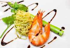 Noodle with shrimp Royalty Free Stock Photo