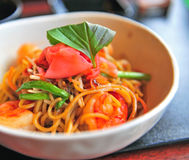 Noodle with shrimps Stock Photos