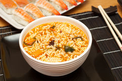 Noodle soup. Stock Images