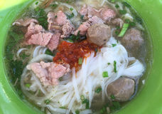 Noodle soup with beef (Vietnamese: Pho) Stock Images
