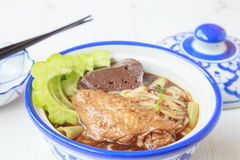 Noodle soup with chicken asia food Royalty Free Stock Photography