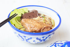 Noodle soup with chicken asia food Stock Photography