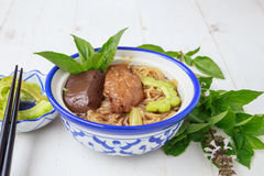 Noodle soup with chicken asia food Royalty Free Stock Image