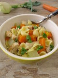 Noodle soup with chicken Royalty Free Stock Photography