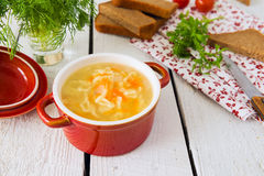 Noodle soup Stock Images