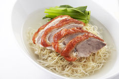 Noodle soup with Chinese roasted duck Royalty Free Stock Image