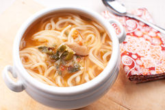 Noodle soup closeup Royalty Free Stock Images