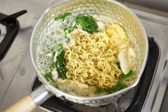 Noodle soup. Is finished and ready to be served Royalty Free Stock Photography