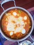 Noodle soup stock image