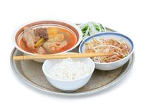 Noodle soup meal Royalty Free Stock Image