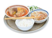 Noodle soup meal Royalty Free Stock Photography