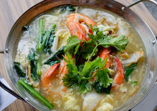 Noodle soup with shrimp Royalty Free Stock Photography