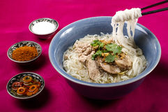 Noodle soup with slice beef Stock Photography
