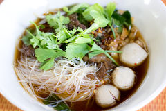 Noodle soup. Is thai food Royalty Free Stock Image