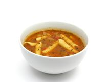 Noodle soup with tomatoes Stock Photography